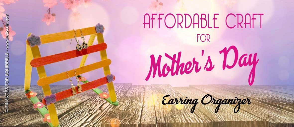 CRAFT: Earring organizer for Mother's Day